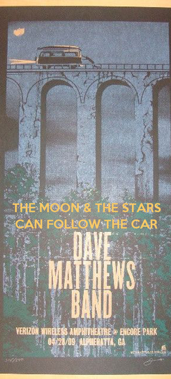 Poster:  THE MOON & THE STARS CAN FOLLOW THE CAR