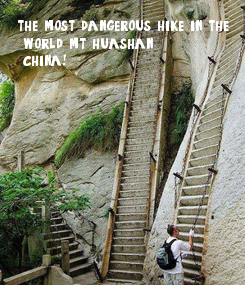 Poster: the most dangerous hike in the