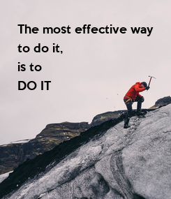 Poster: The most effective way
