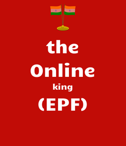 Poster: the Online king (EPF)