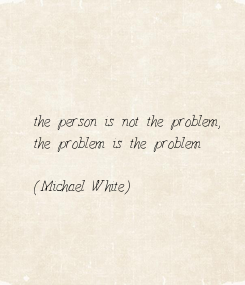 Poster: the person is not the problem, 