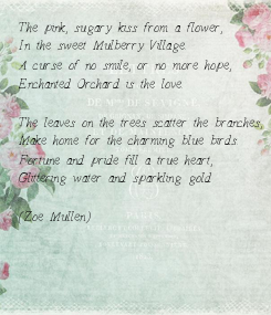 Poster: The pink, sugary kiss from a flower,
