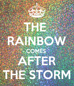 Poster: THE  RAINBOW COMES  AFTER THE STORM