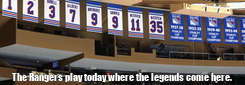 Poster:  The Rangers play today where the legends come here.