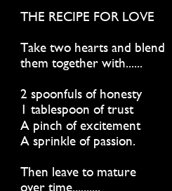 Poster: THE RECIPE FOR LOVE