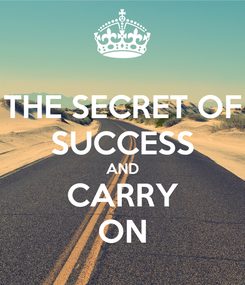 Poster: THE SECRET OF SUCCESS AND CARRY ON