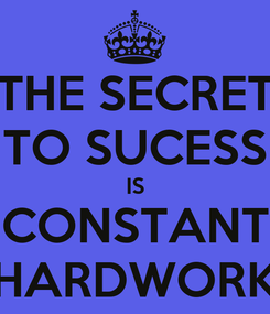 Poster: THE SECRET TO SUCESS IS CONSTANT HARDWORK