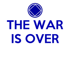 Poster: THE WAR IS OVER