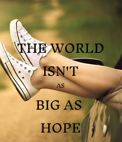 Poster: THE WORLD ISN'T AS BIG AS  HOPE