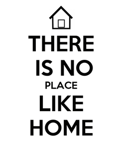 Poster: THERE  IS NO PLACE LIKE HOME