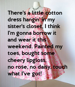 Poster: There's a little cotton 