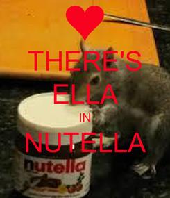 Poster: THERE'S ELLA IN NUTELLA