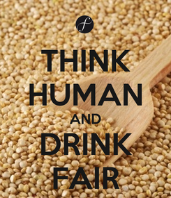 Poster: THINK HUMAN AND DRINK FAIR