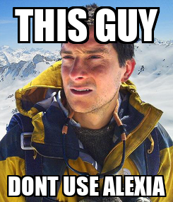 Poster: THIS GUY DONT USE ALEXIA