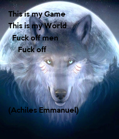 Poster: This is my Game