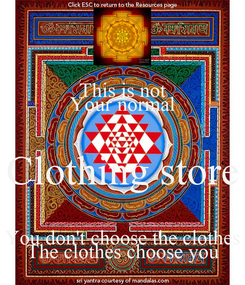 Poster: This is not Your normal Clothing store You don't choose the clothes The clothes choose you