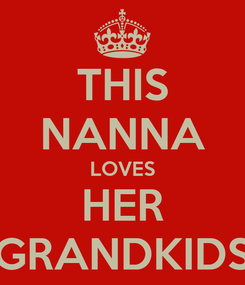 Poster: THIS NANNA LOVES HER GRANDKIDS