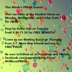 Poster: This Week's PRSSA Events: