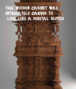 Poster: this wooden cabinet was 