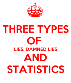 Poster: THREE TYPES OF  LIES, DAMNED LIES AND STATISTICS