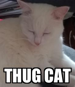 Poster:  THUG CAT