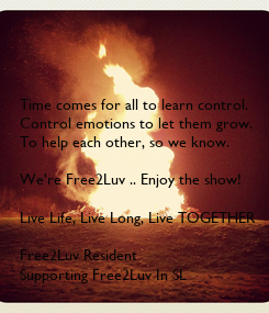 Poster: Time comes for all to learn control.