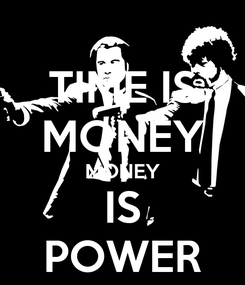 Poster: TIME IS MONEY MONEY IS POWER