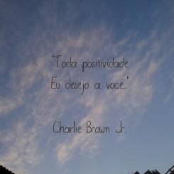 """Poster: """"Toda positividade Eu desejo a voce...""""  Charlie Brown Jr."""