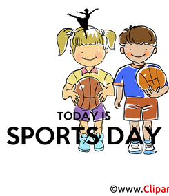 Poster:   TODAY IS SPORTS DAY