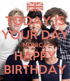 Poster: TODAY IS YOUR DAY MONICA HAPPY BIRTHDAY