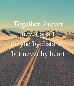 Poster: Together forever,