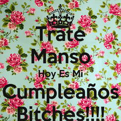 Poster: Trate Manso Hoy Es Mi Cumpleaños Bitches!!!!