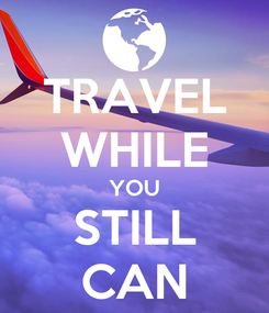 Poster: TRAVEL WHILE YOU STILL CAN