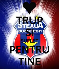 Poster: TRUP SI SUFLET PENTRU TINE
