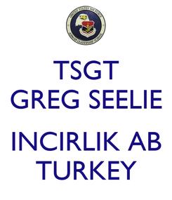 Poster: TSGT GREG SEELIE  INCIRLIK AB TURKEY