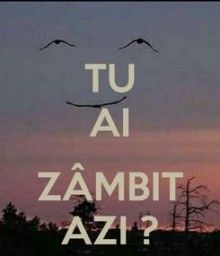 Poster: TU AI  ZÂMBIT AZI ?