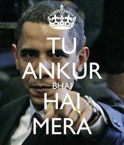 Poster: TU ANKUR BHAI HAI MERA