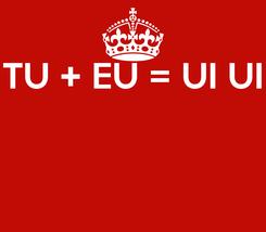Poster: TU + EU = UI UI