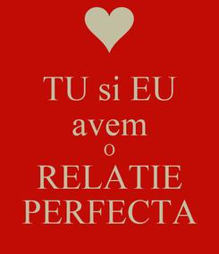 Poster: TU si EU avem O RELATIE PERFECTA
