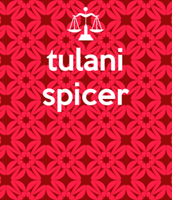 Poster: tulani spicer