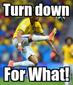 Poster: Turn down For What!