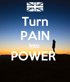 Poster: Turn PAIN Into  POWER