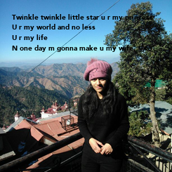 Poster: Twinkle twinkle little star u r my princess 