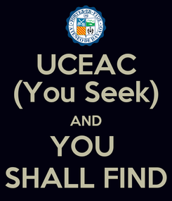 Poster: UCEAC (You Seek) AND YOU  SHALL FIND