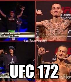 Poster:  UFC 172