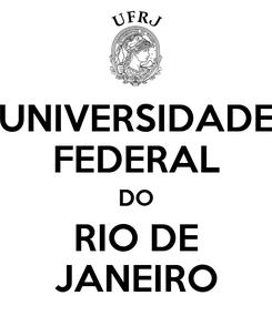 Poster: UNIVERSIDADE FEDERAL DO RIO DE JANEIRO