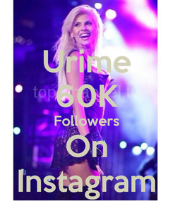 Poster: Urime 60K Followers On Instagram