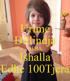 Poster: Urime Ditlindja ALBA Ishalla Edhe 100Tjera
