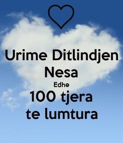 Poster: Urime Ditlindjen Nesa Edhe 100 tjera te lumtura