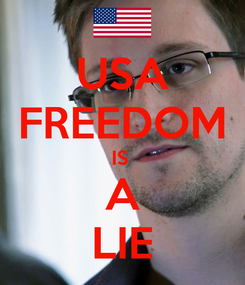 Poster: USA FREEDOM IS  A LIE